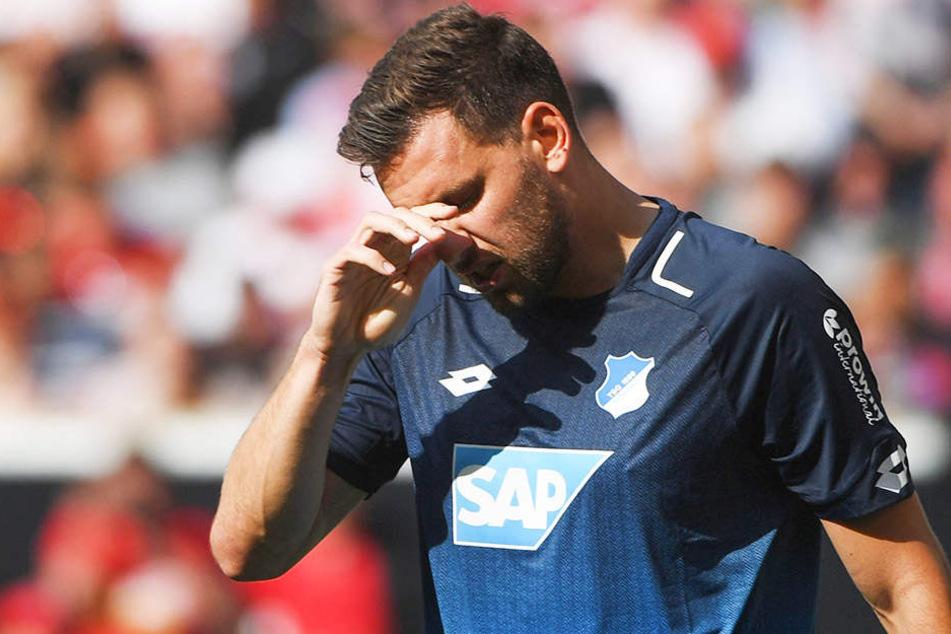 TSG-Stürmer Adam Szalai nach der 0:2-Niederlage beim VfB Stuttgart.