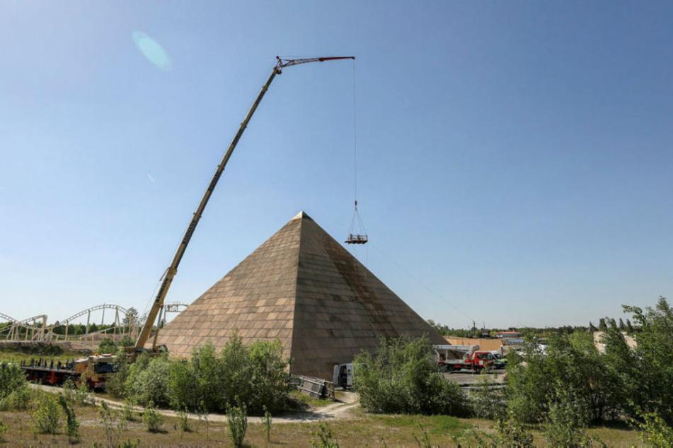 Mit 31 Metern Höhe ist die Pyramide im Belantis-Park die wohl größte Europas.