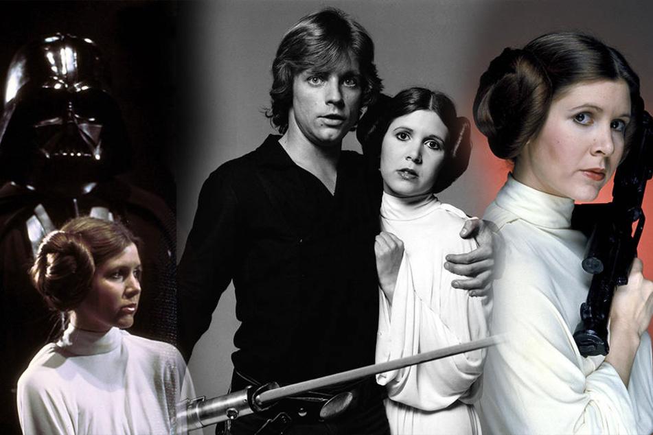 """Berühmt wurde sie durch ihre Rolle in """"Star Wars"""" als Prinzessin Leia."""