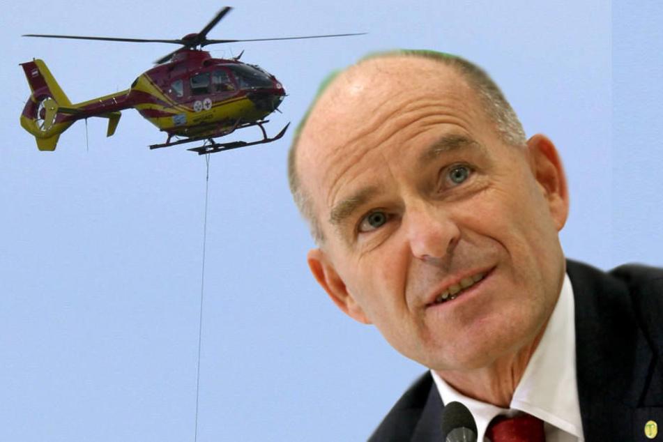 Hubschrauber und Bergungsspezialisten der Bergrettung sind seit Tagen im Einsatz.