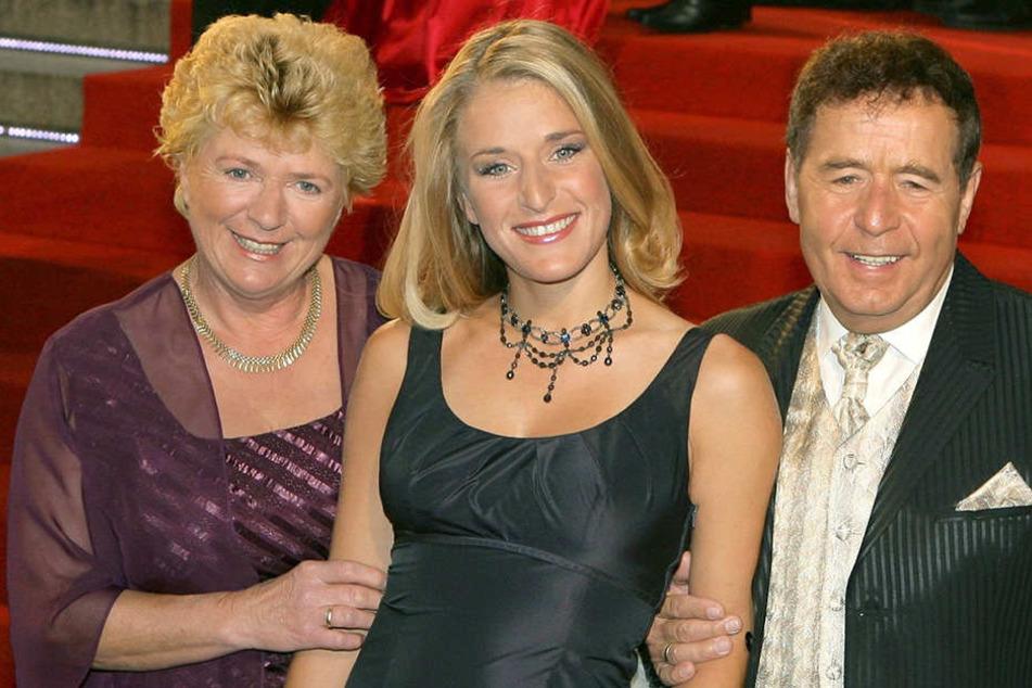 Sängerin Stefanie Hertel mit ihren Eltern Eberhard und Elisabeth Hertel (Archivfoto).