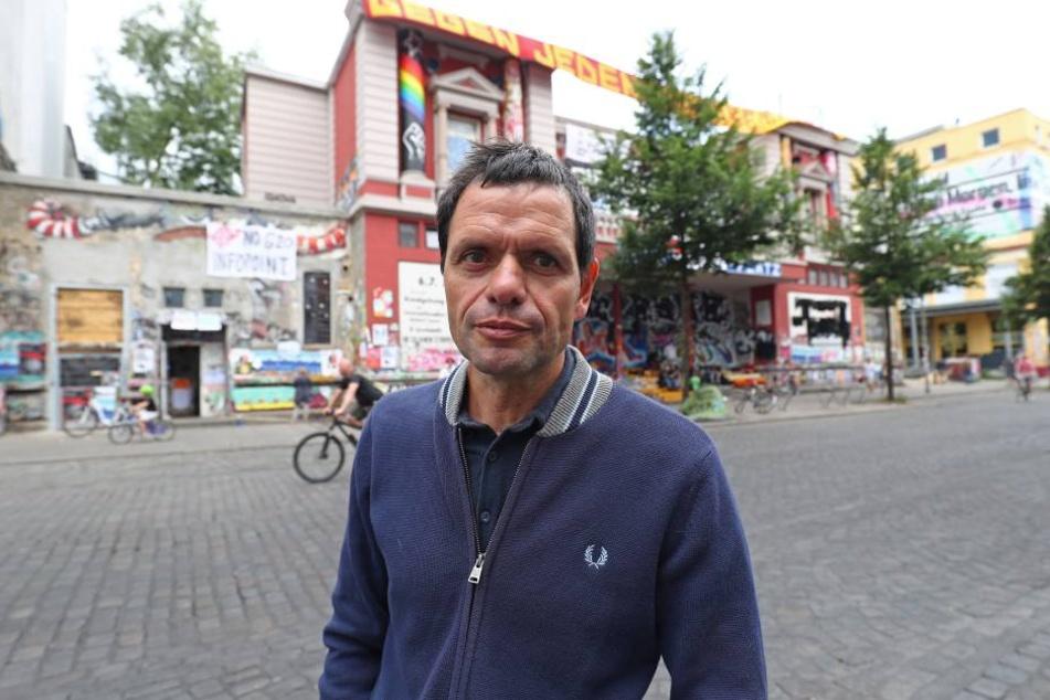 """Andreas Blechschmidt veranstaltete bereits die """"Welcome to Hell""""-Demo. Er meldete auch die Kundgebung in Wurzen an."""
