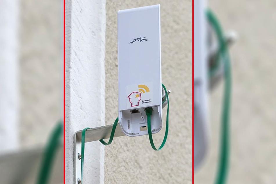 Ein Router des Freifunk-Vereins am Brühl.