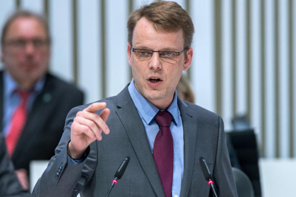Nikolaus Kramer im Landtag von Mecklenburg Vorpommern.