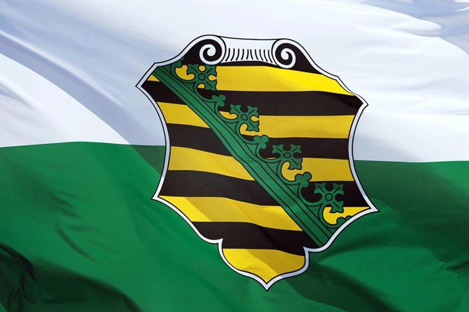 """Das bisherige """"kleine"""" Wappen des Freistaates."""