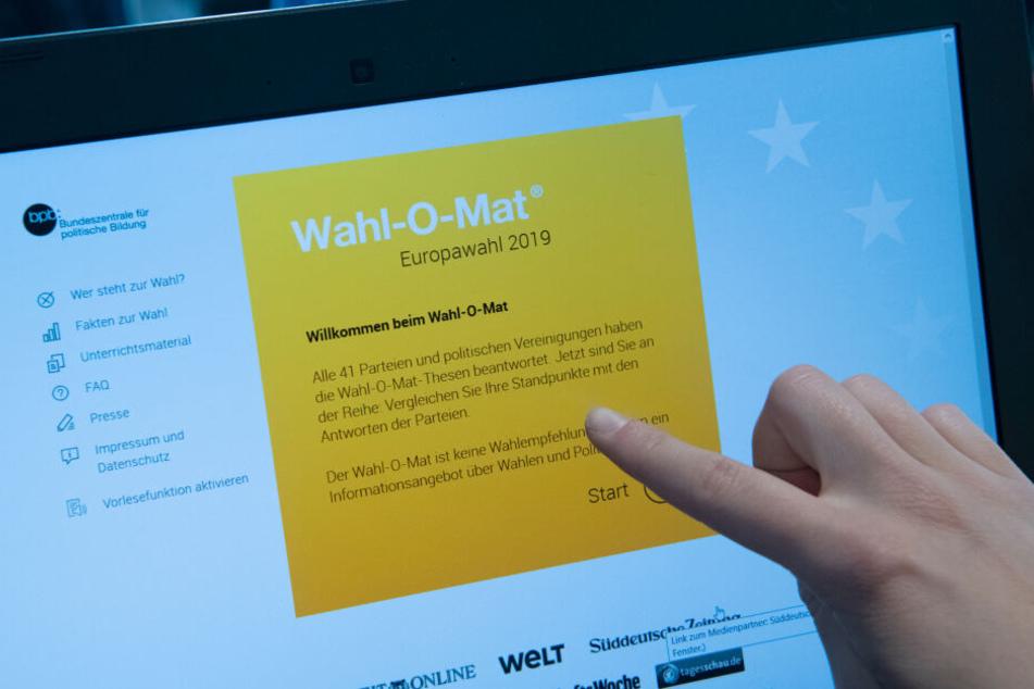 """Das Online-Angebot """"Wahl-O-Mat"""" wurde bei der Bundestagswahl 2017 millionenfach genutzt."""