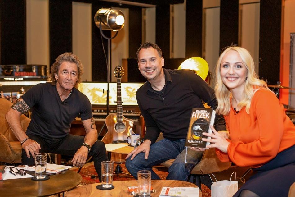 Rocklegende Peter Maffay (71), Bestseller-Autor Sebastian Fitzek (48) und Co-Moderatorin Henriette Fee Grützner (33).