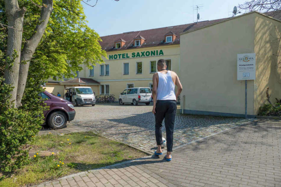 Noch beherbergt das ehemalige Hotel Saxonia Flüchtlinge.