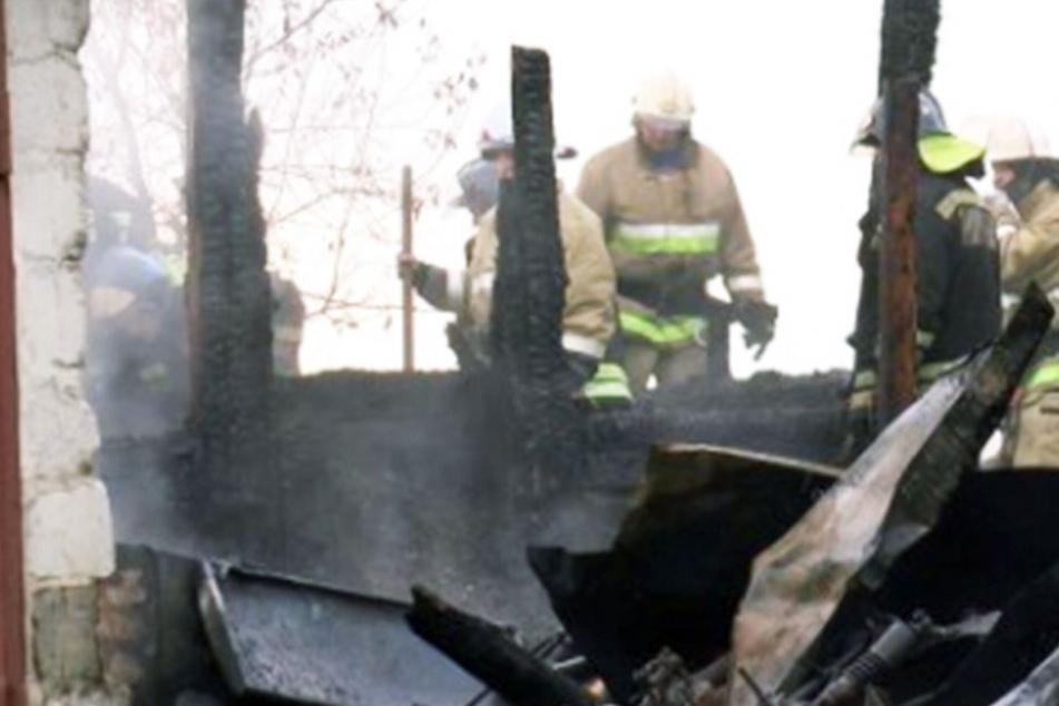Siebenköpfige Familie stirbt qualvollen Flammentod