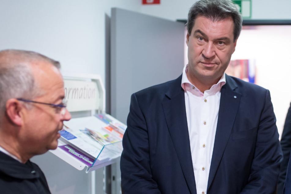 Markus Söder und die CSU befinden sich vor Landtagswahl weiter in einem Tief.