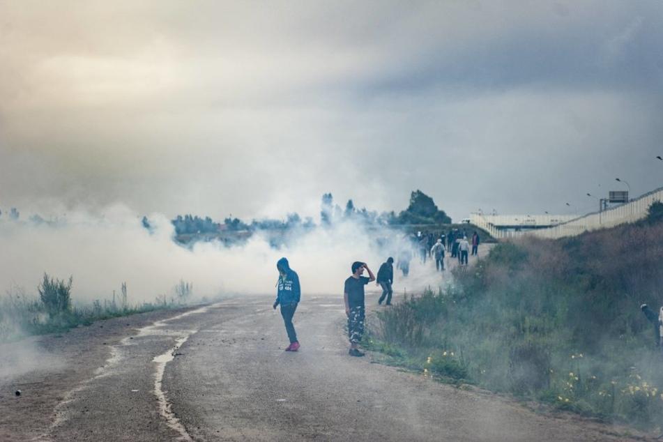 Bei den Demonstrationen setzte die Polizei auch Tränengas ein.
