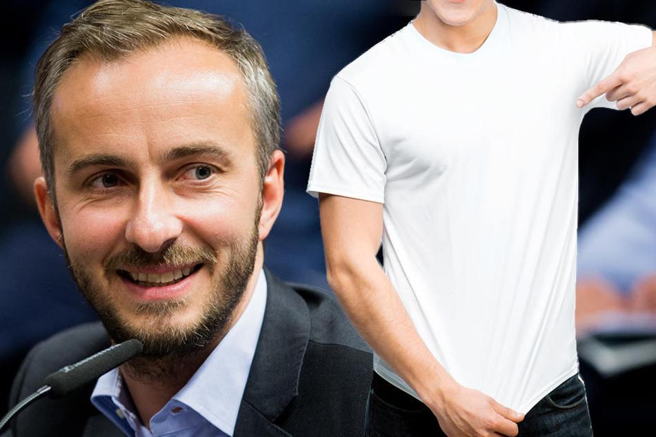 Böhmermann steht als Werbegesicht für Merchandising-Artikel von Pro Deutschland nicht zur Verfügung.