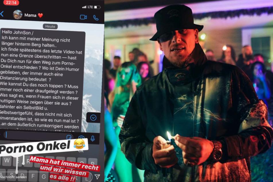 Bonez MC teilte den WhatsApp-Verlauf mit seiner Mutter auf Instagram.