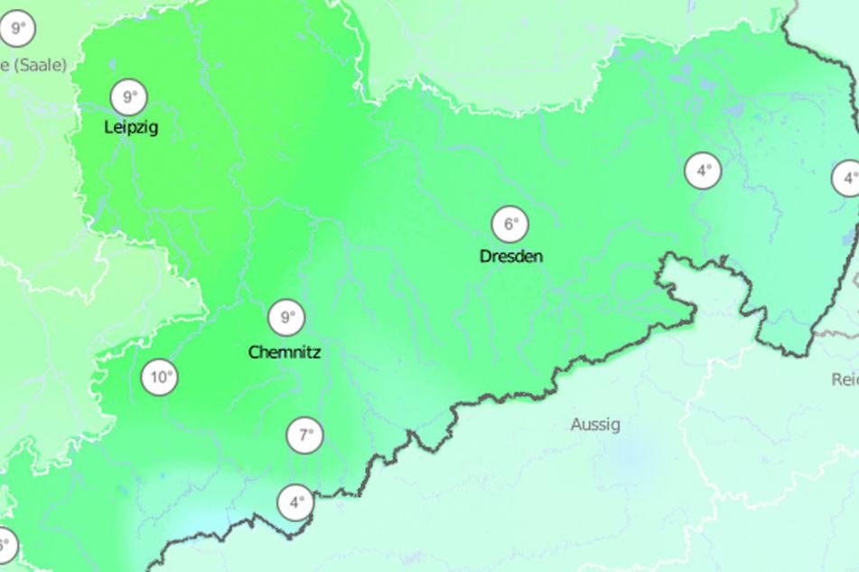 Die Temperaturen steigen am Wochenende in Sachsen auf bis zu zehn Grad.