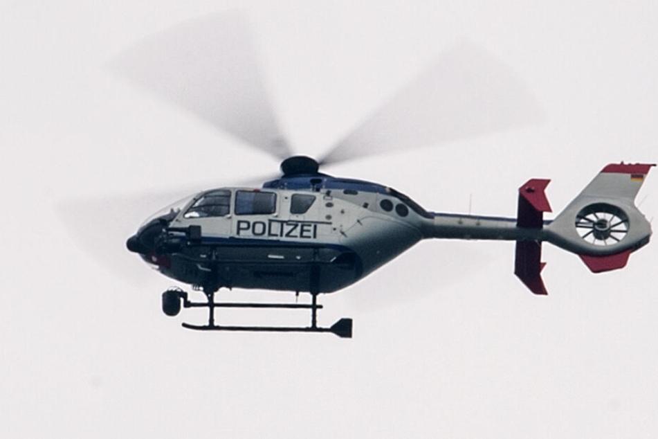 Die Polizei suchte mit einem Hubschrauber nach den vermissten Kindern. (Symbolfoto)