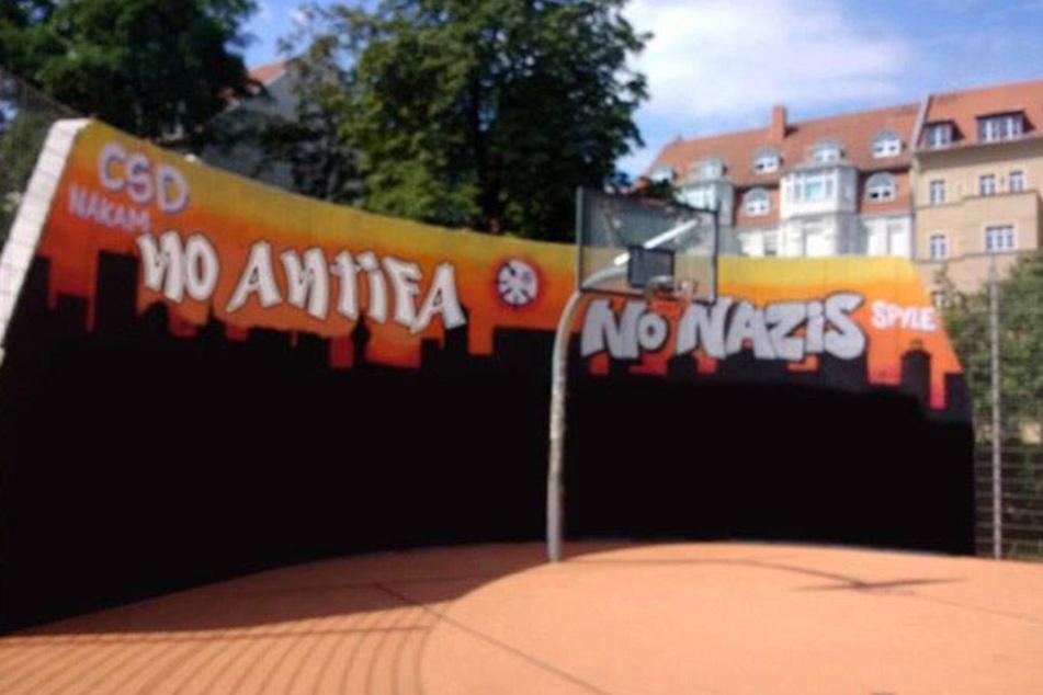 Diese Fotomontage der Leipziger CDU ist ein weiterer Beitrag in der Diskussion um Linksextremismus in Connewitz.