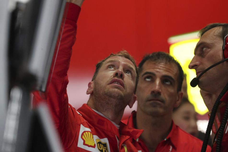 Sebastian Vettel (32) vom Team Ferrari vor dem 1. freien Training in Suzuka.