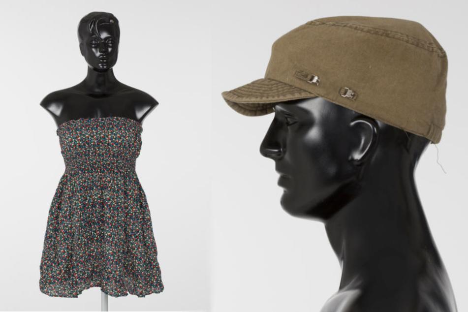 Dieses leichte Sommerkleid (l) trug Melanie zum Zeitpunkt ihrer Ermordung. Zudem ließ der Täter eine auffällige Mütze am Fundort der Leiche in Berlin-Pankow zurück.