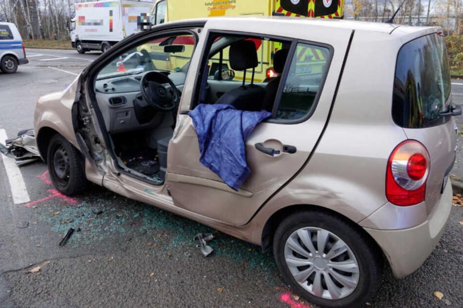 Vorfahrt nicht beachtet? Zwei Verletzte bei Unfall in Chemnitz