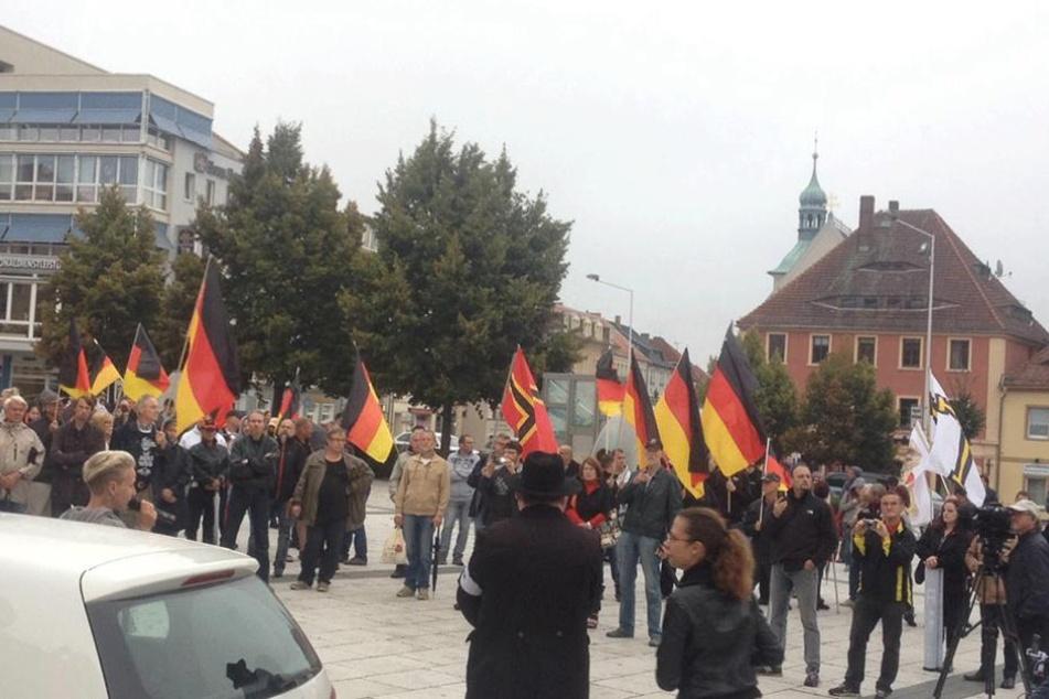 Die Demonstration auf dem Kornmarkt.