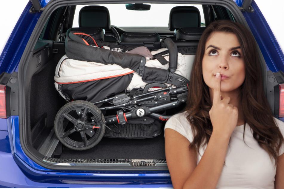 Passt der Kinderwagen ins Auto? ADAC macht den Kofferraum-Test!