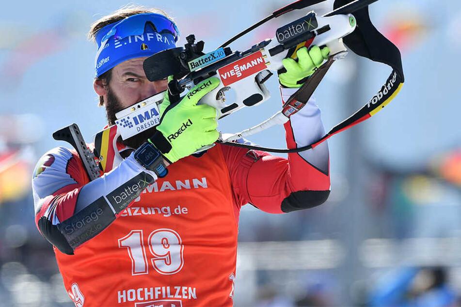 Michael Rösch zählt in der Loipe nicht zu den allerschnellsten Athleten, deshalb muss er am Schießstand brillieren.