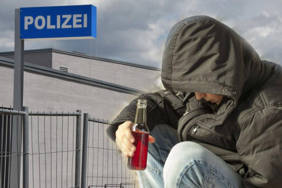 Skurriler Polizei-Einsatz: Betrunkener filmt sich vor Revier beim Sterben
