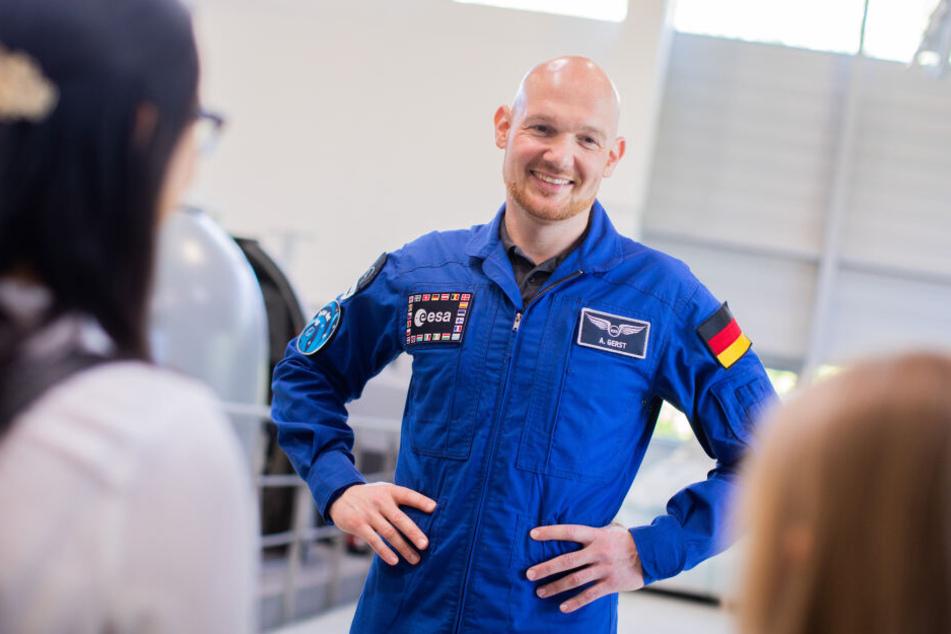 Alexander Gerst in der Trainingshalle der ESA in Köln.