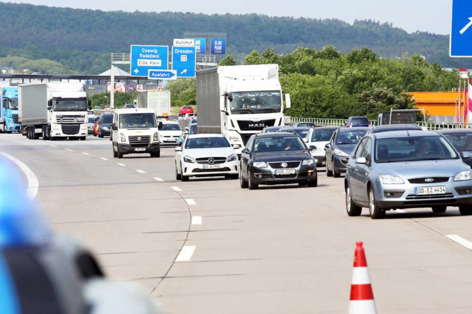 Auf der A4 Höhe Dresden-Neustadt wird es für drei Tage richtig eng - aber nur Richtung Görlitz.