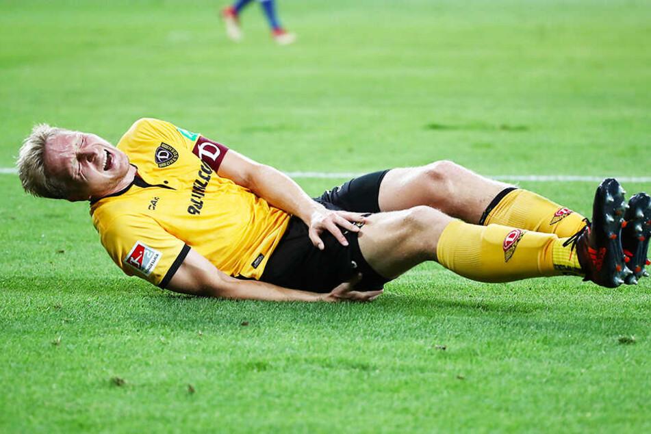 Marco Hartmann ist immer wieder von Verletzungen geplagt - hier erwischte es im Sommer im Spiel gegen Duisburg den Oberschenkel.
