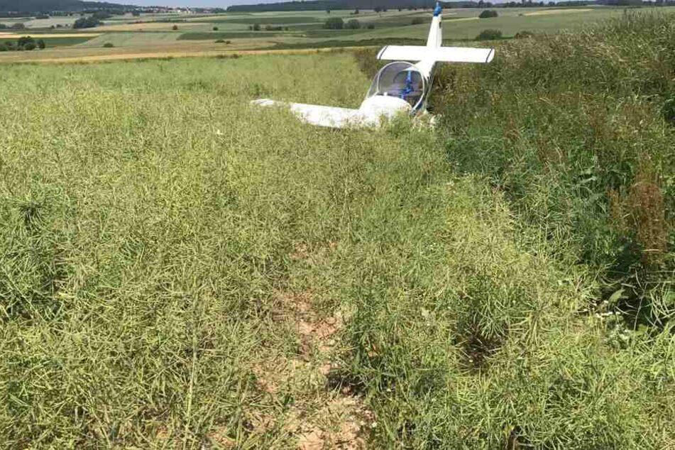 Am Flugzeug entstand vermutlich ein Totalschaden.