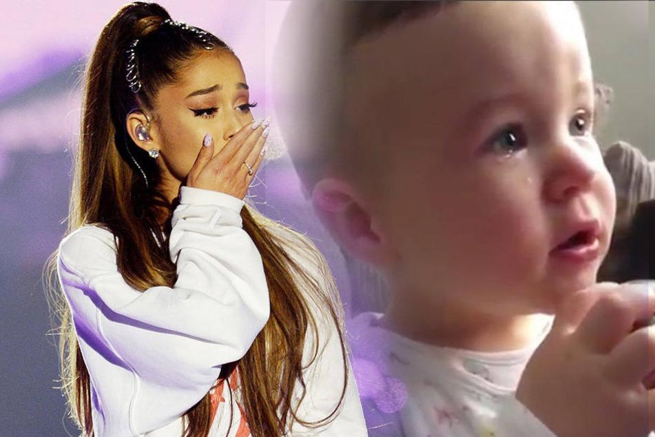 So herzzerreißend weint ein Baby bei Ariana Grandes Benefiz-Konzert