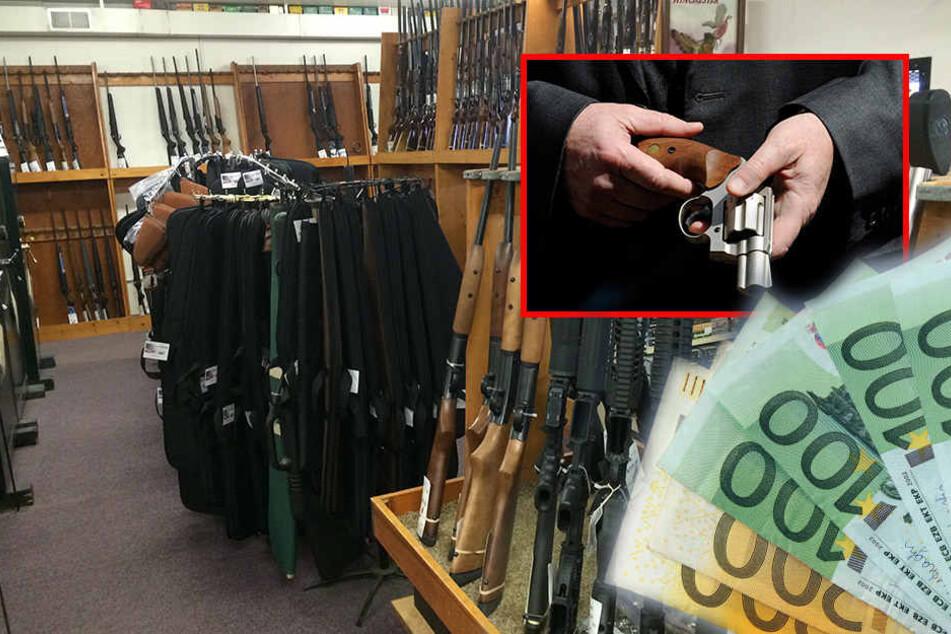 Der Unbekannte ließ unter anderem zwei Schreckschusspistolen und Bargeld in bisher unbekannter Höhe mitgehen. (Symbolbild)