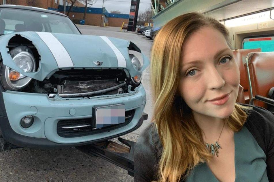 Typisch Frau? Eine Autofahrerin sorgte sich nach ihrem Unfall um ein ganz bestimmtes Detail
