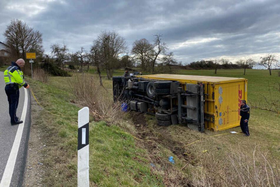 Der Unfall ereignete sich kurz vor der Ortseinfahrt Bildechingen.