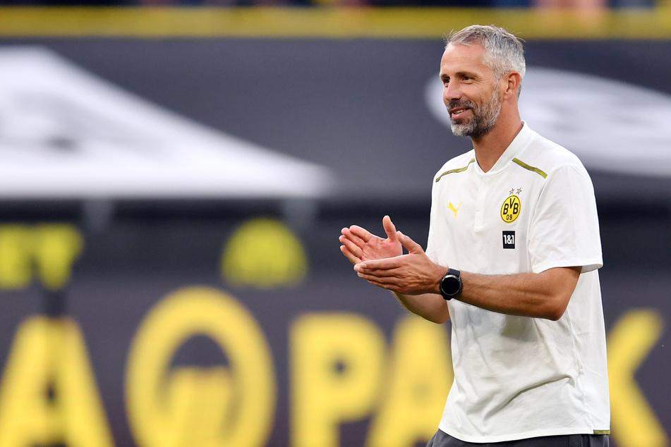 Borussia Dortmunds Coach Marco Rose (44) wird ebenfalls beim Benefizturnier dabei sein.