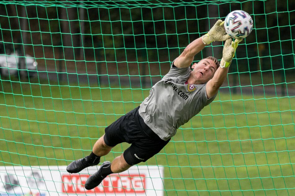 Seit Juli 2019 die Nummer 1 bei der SG Dynamo: Kevin Broll. Vor sechs Jahren ging er seinem Bruder aus dem Weg, um sich nicht mit ihm um die Nummer 1 im Waldhof-Tor streiten zu müssen.