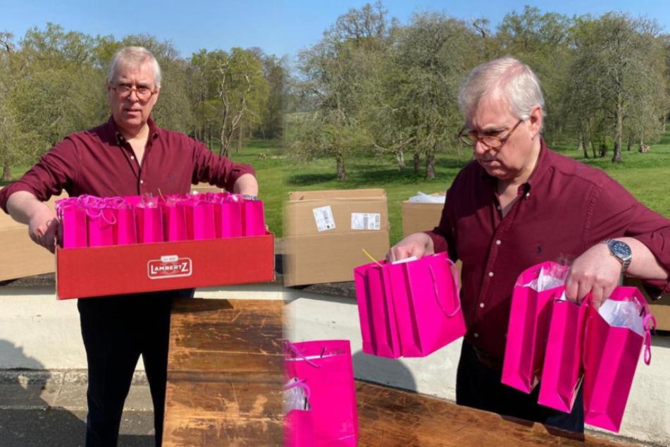Corona-Krise als Image-Retter? Prinz Andrew verpackt Gebäck für Hospiz