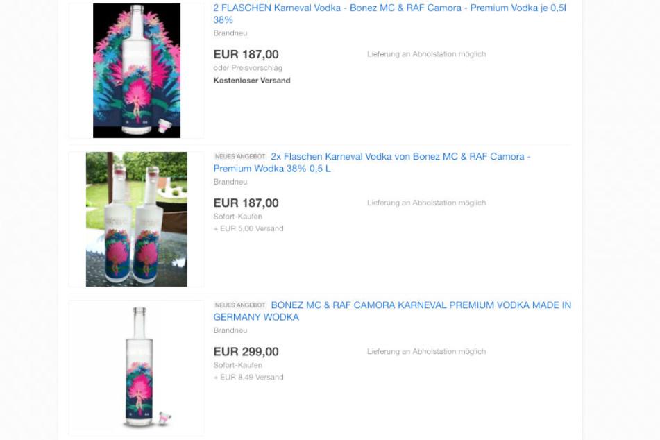 Ein Verkäufer bot die Flasche Karneval Vodka für 299 Euro bei eBay an.