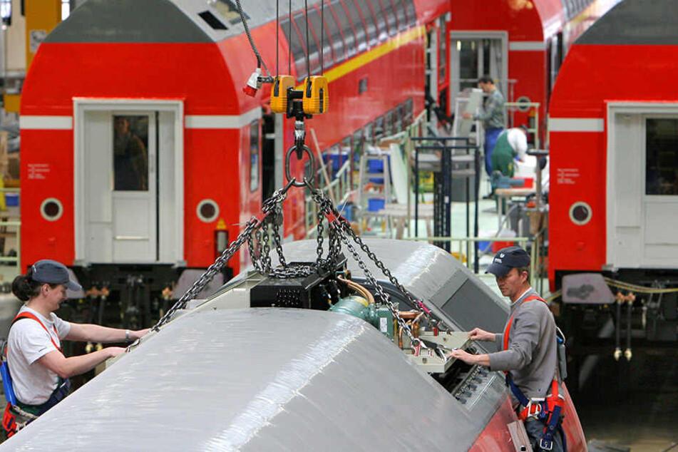 Obwohl etwa 800 Jobs wegfallen, sind die Bombardier-Standorte in Sachsen  gesichert.
