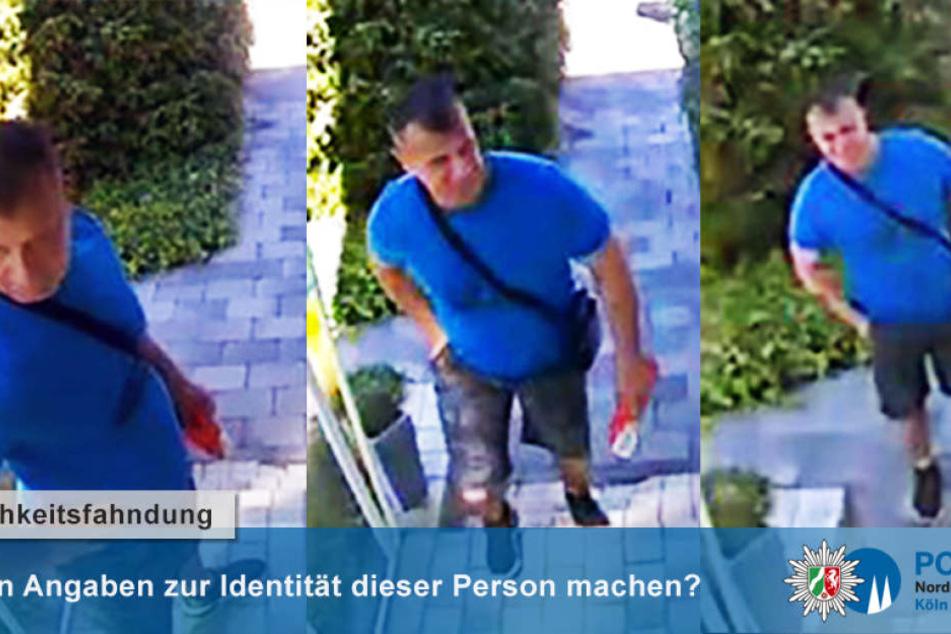 Der mutmaßliche Einbrecher wurde fotografiert.