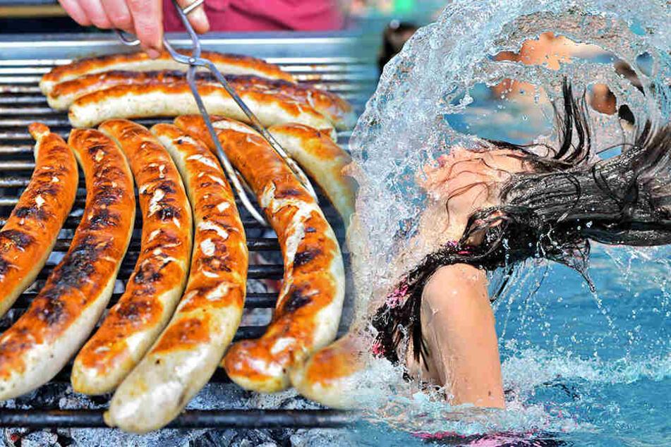 Grillen und baden: Am Wochenende kann man sich wieder den schönen Dingen des Lebens widmen.