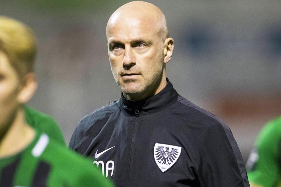 Auch SCP-Trainer Marco Antwerpen hat seine Probleme mit dem DFB.