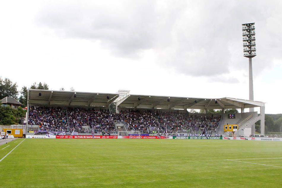 Ins Erzgebirgsstadion wurde eingebrochen.