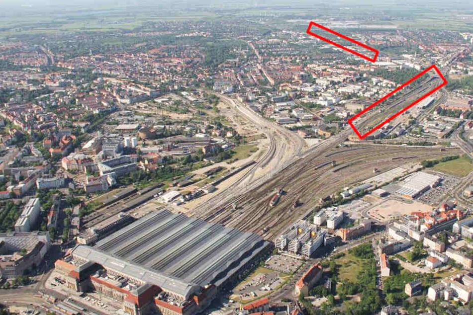 Der zweite Bauabschnitt im Bereich des Leipziger Hauptbahnhofs und des Bahnhofs Möckern.