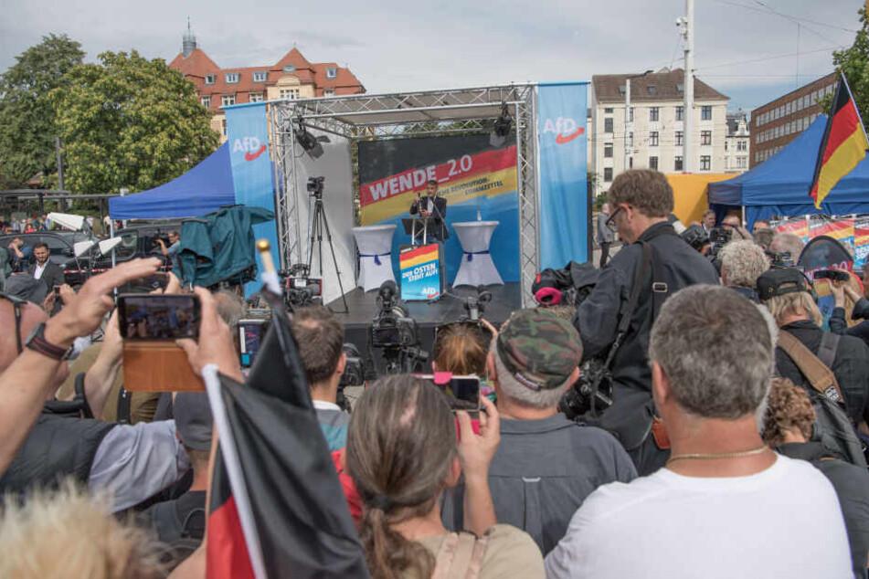 Die AfD in Brandenburg hatte Höcke und Meuthen zum Wahlkampfauftakt eingeladen.