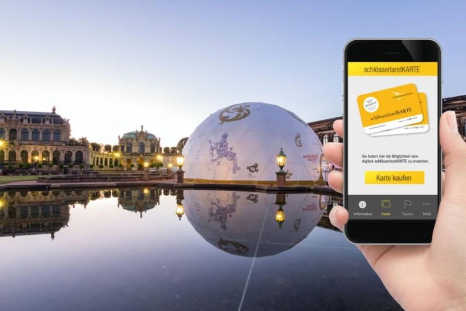 Mit der App schlösserlandKARTE könnt Ihr in ganz Sachsen viele Sehenswürdigkeiten günstiger besuchen.