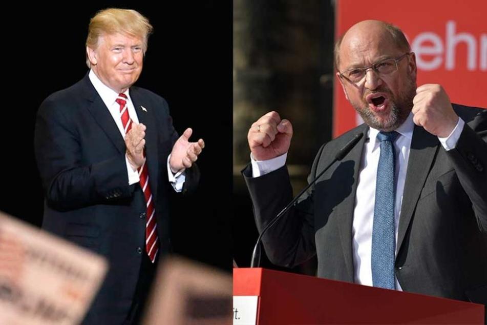 Harte Worte: Kanzler-Kandidat Martin Schulz geht Trump an