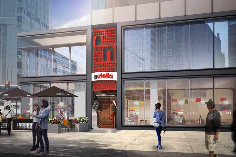 So soll das erste Nutella-Cafe in Chicago aussehen.