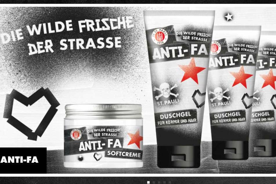 """Im Fanshop des FC St. Pauli können sich Anhänger das Duschgel """"Anti-Fa"""" kaufen"""